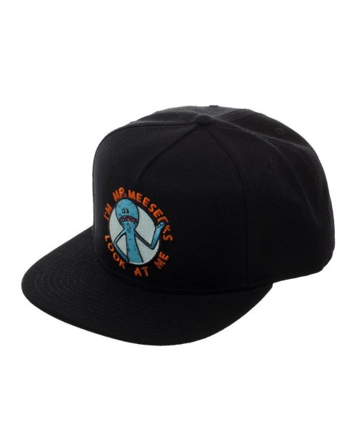 OFFICIAL RICK AND MORTY - I'M MR MEESEEKS LOOK AT ME BLACK SNAPBACK CAP