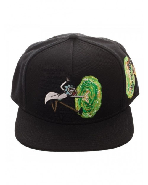 OFFICIAL RICK AND MORTY PORTAL - C'MON MORTY BLACK SNAPBACK CAP