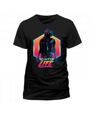OFFICIAL READY PLAYER ONE - GUNTER LIFE BLACK T-SHIRT