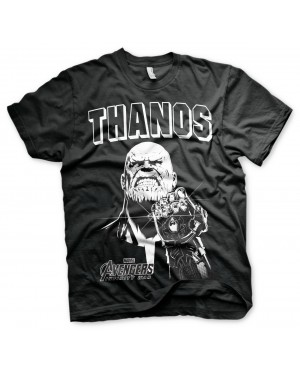 OFFICIAL AVENGERS INFINITY WAR - THANOS INFINITY GAUNTLET BLACK T-SHIRT