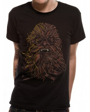 OFFICIAL SOLO: A STAR WARS STORY CHEWBACCA WEARING GOOGLES BLACK T-SHIRT