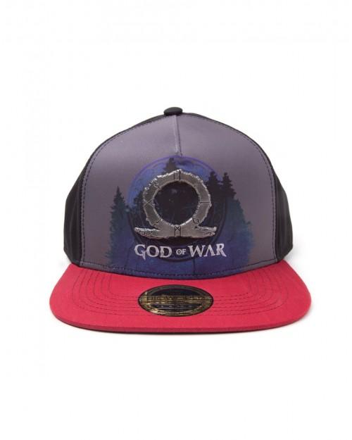 OFFICIAL GOD OF WAR METAL SYMBOL SUBLIMATION PRINT SNAPBACK CAP
