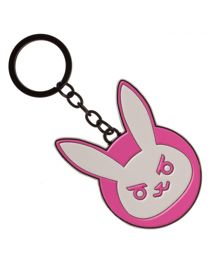 OFFICIAL OVERWATCH - D.VA BUNNY LOGO METAL KEYRING