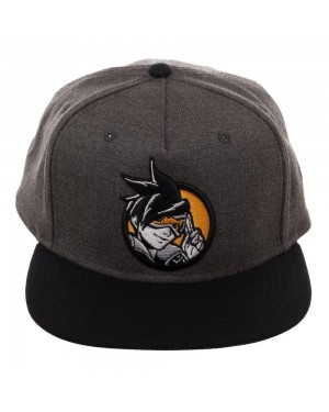 OFFICIAL OVERWATCH - TRACER ROUND PATCH GREY SNAPBACK CAP