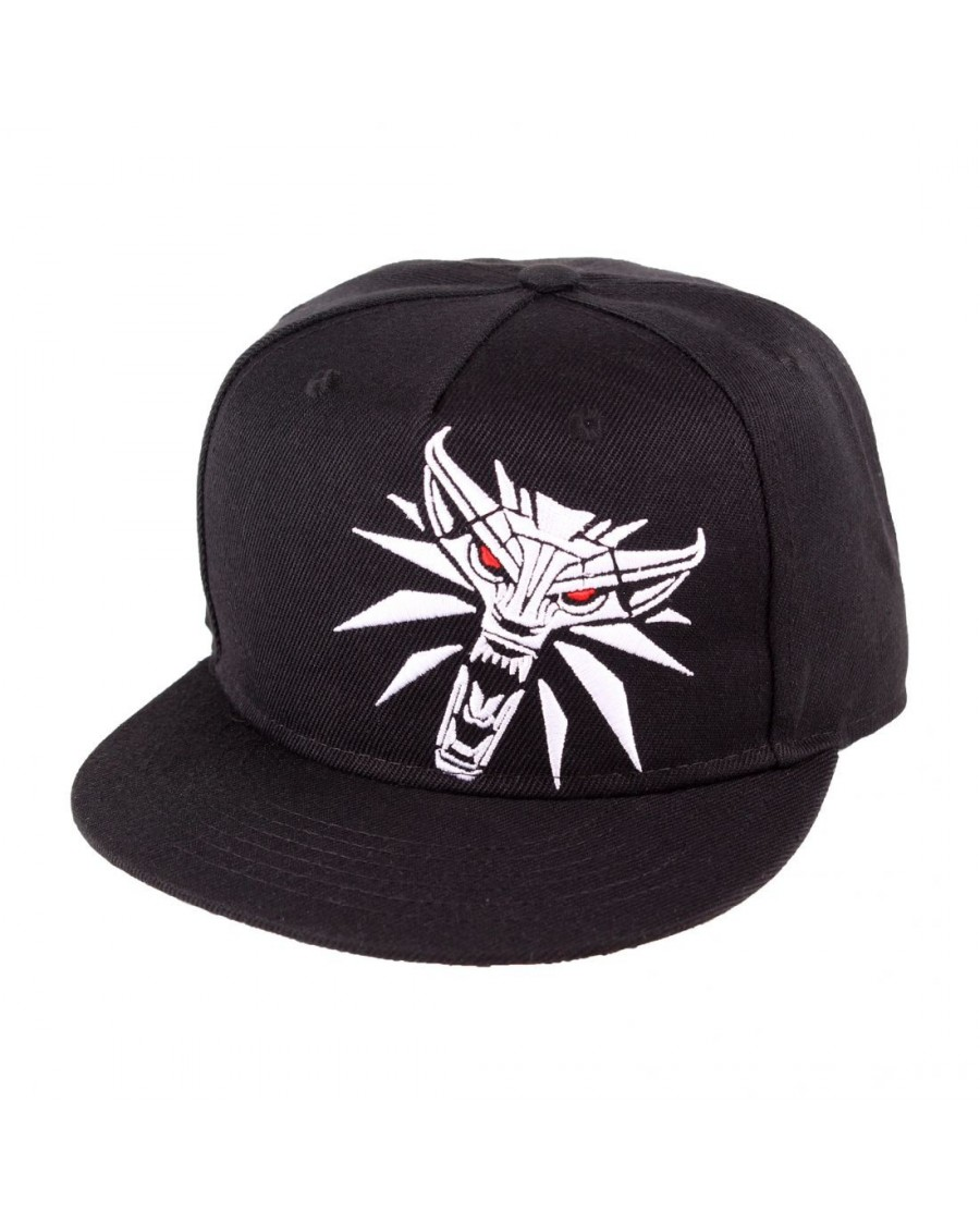 OFFICIAL WITCHER 3 - GERALT MEDALLION BLACK SNAPBACK CAP WITH PRINTED VISOR