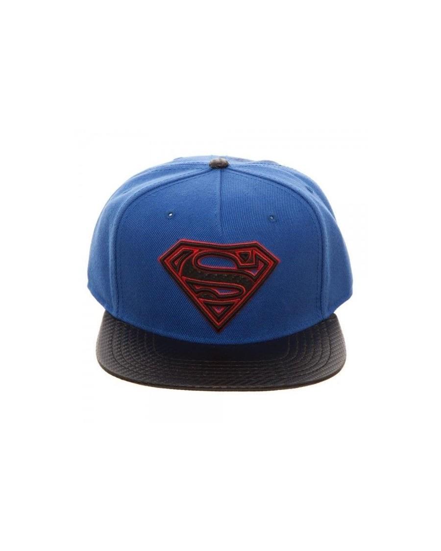 OFFICIAL DC COMICS - SUPERMAN SYMBOL CARBON STYLED SNAPBACK CAP
