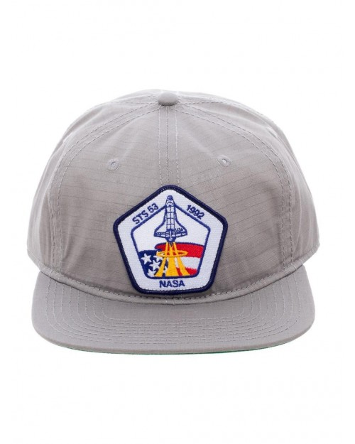 OFFICIAL NASA STS-53 1992 SPACE SHUTTLE PATCH GREY NYLON SNAPBACK CAP
