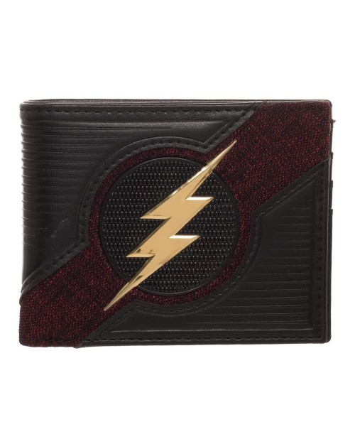 OFFICIAL DC COMICS - THE FLASH CHROME SYMBOL BLACK WALLET