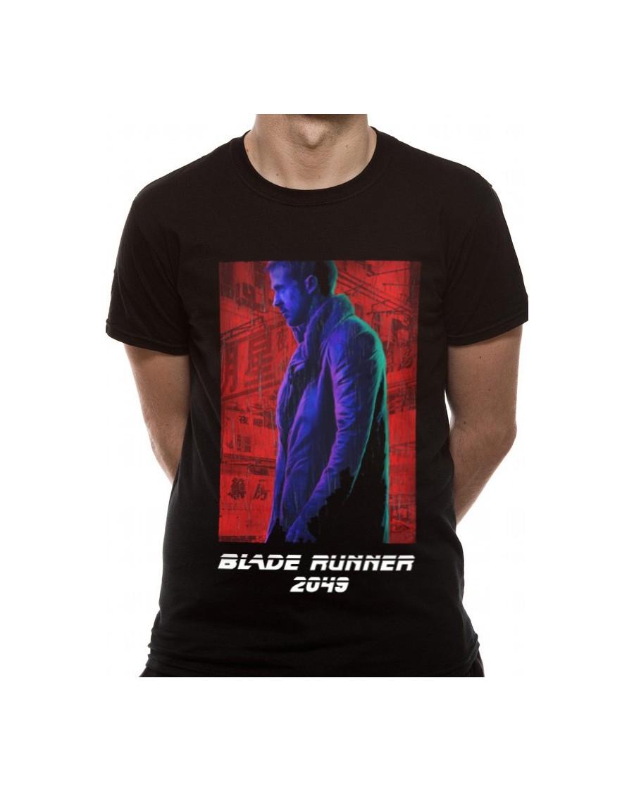 OFFICIAL BLADE RUNNER 2049 - AGENT K - NEON POSTER PRINT BLACK T-SHIRT