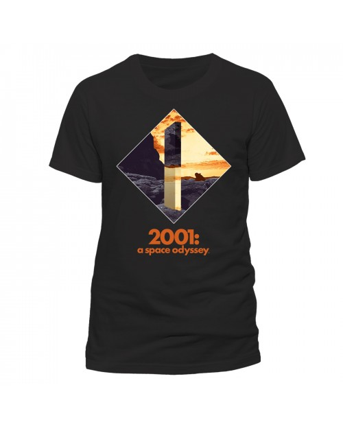 OFFICIAL 2001: A SPACE ODYSSEY - MONOLITH PRINT BLACK T-SHIRT