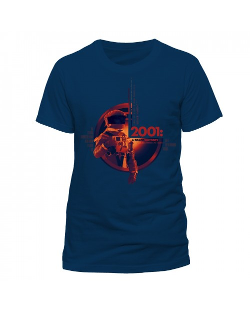 OFFICIAL 2001: A SPACE ODYSSEY - HUMAN ERROR NAVY BLUE T-SHIRT
