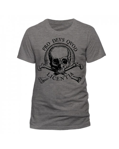 OFFICIAL UNCHARTED 4: A THIEF'S END - SKULL DARK HEATHER T-SHIRT