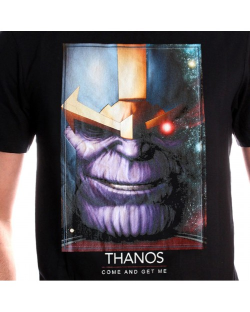 OFFICIAL MARVEL COMICS - AVENGERS: INFINITY WAR - THANOS 'COME AND GET ME' BLACK T-SHIRT