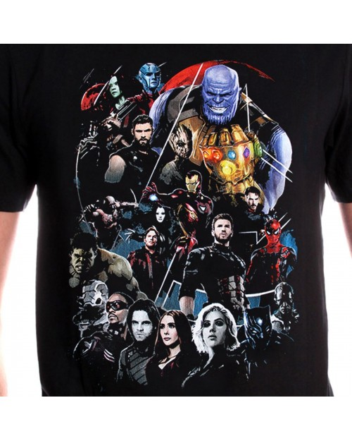 OFFICIAL MARVEL COMICS - AVENGERS: INFINITY WAR GROUP BLACK T-SHIRT