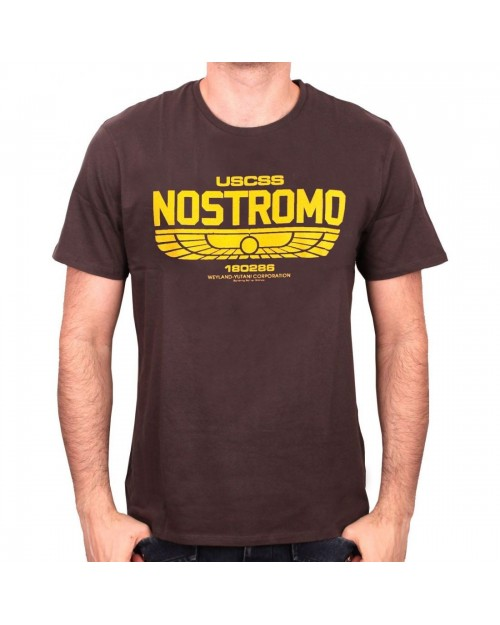 OFFICIAL ALIEN - USCSS NOSTROMO 180286 LOGO GREY T-SHIRT