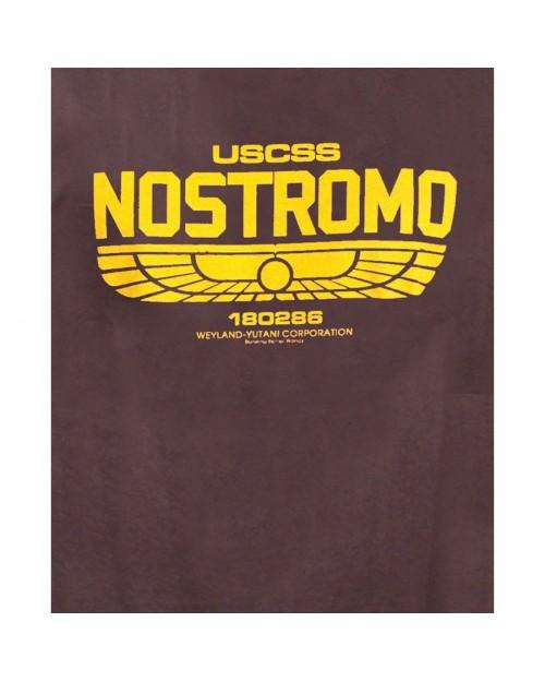 OFFICIAL ALIEN - USCSS NOSTROMO 180286 LOGO GREY T-SHIRT