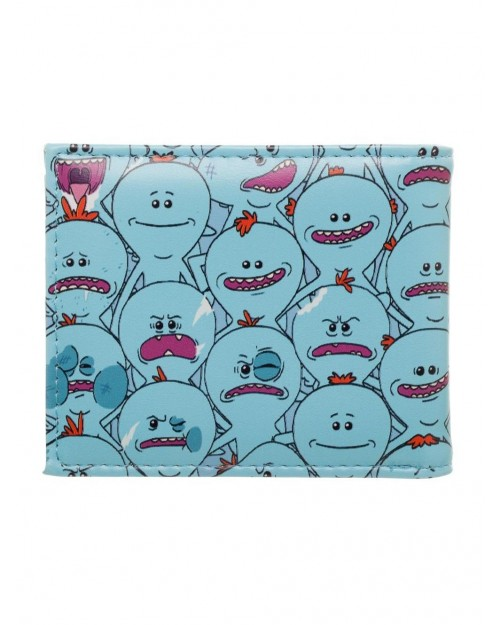 RICK AND MORTY - MR MEESEEKS ALL OVER TILED PRINT BLUE WALLET