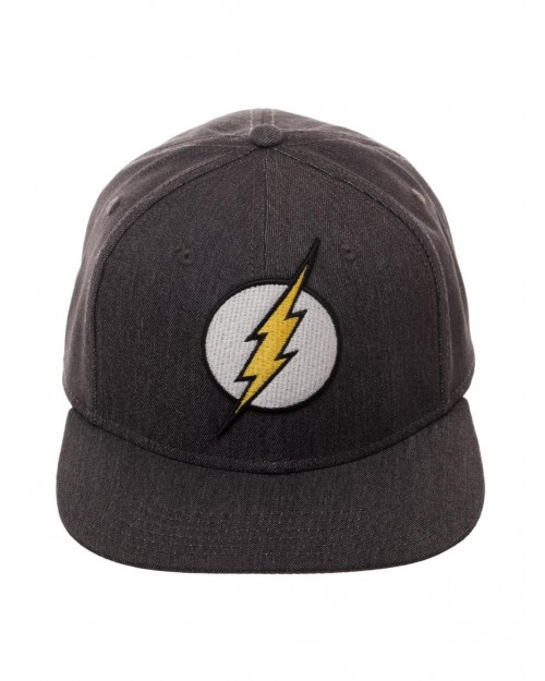 DC COMICS - THE FLASH REBIRTH SYMBOL GREY FLEX FIT FITTED CAP
