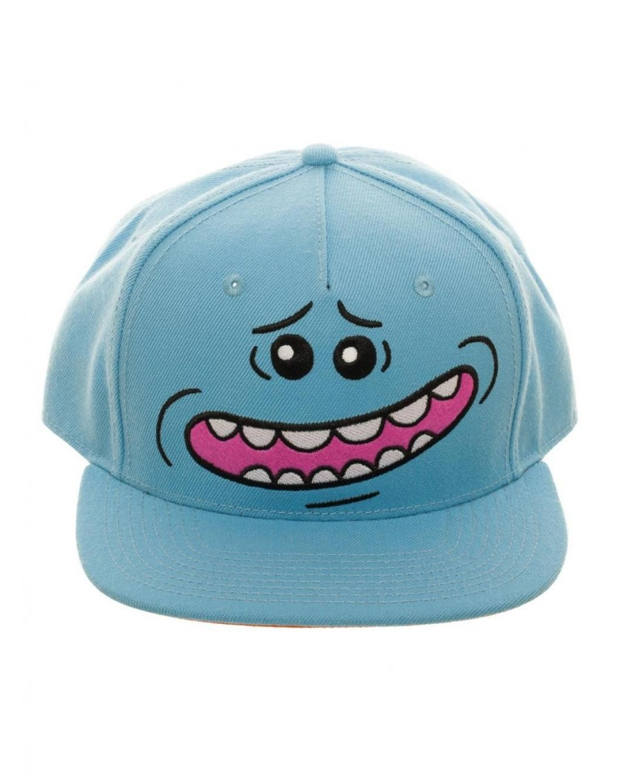 RICK AND MORTY - MR MEESEEKS FACE BLUE SNAPBACK CAP