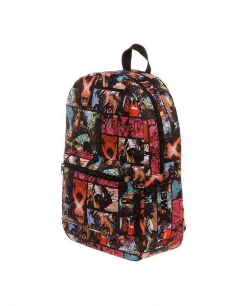 MARVEL COMICS X-MEN TILED COMIC BOOK PRINT BACKPACK