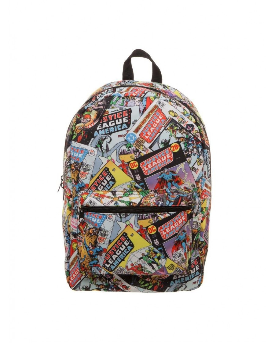 DC COMICS - JUSTICE LEAGUE TILED COMIC BOOK PRINT BACKPACK