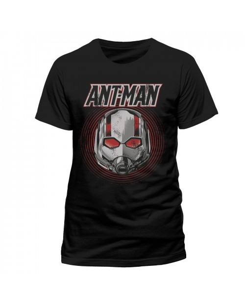 OFFICIAL MARVEL COMICS - ANT-MAN AND THE WASP - ANT-MAN MASK BLACK T-SHIRT