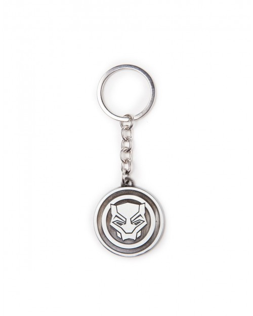 MARVEL COMICS - BLACK PANTHER SYMBOL ROUND METAL KEYRING