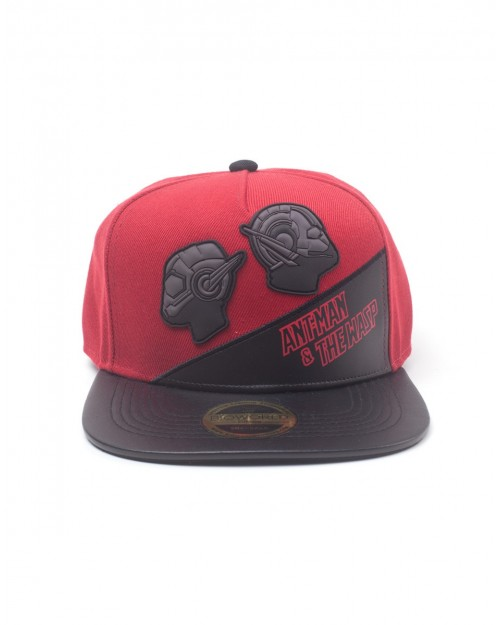 MARVEL COMICS - ANT-MAN AND THE WASP RUBBER PATCHES SNAPBACK CAP