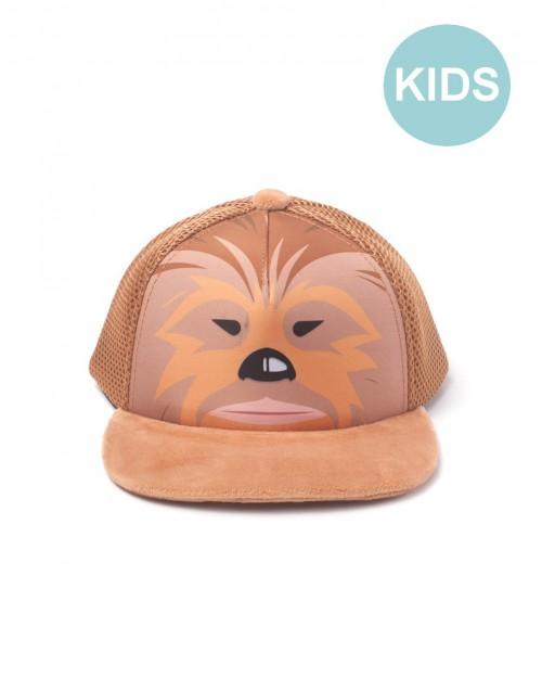 STAR WARS - CHEWBACCA FACE TRUCKER STYLED SNAPBACK CAP [KIDS]