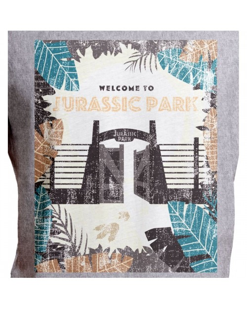 JURASSIC PARK - 25th ANNIVERSARY GATE ARTWORK GREY T-SHIRT