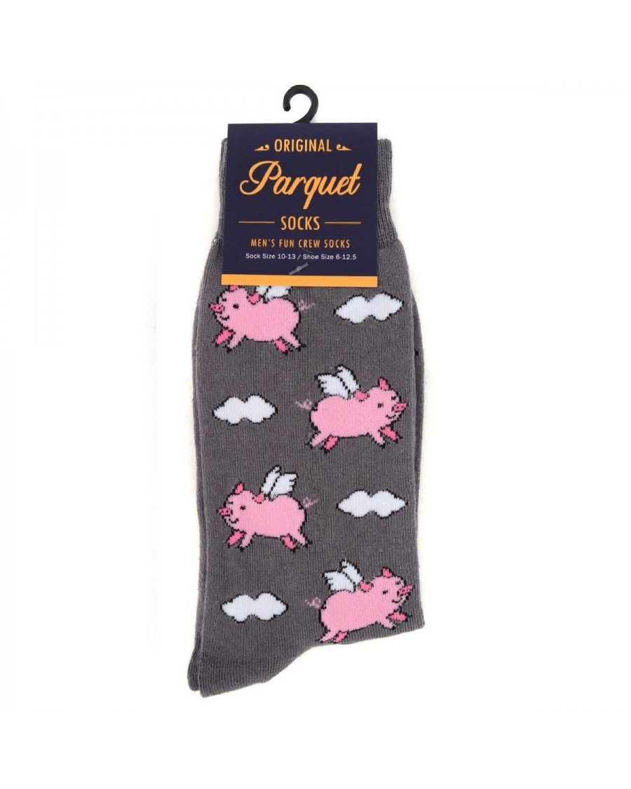 FLYING PIGS FACE ALL OVER STYLE PAIR OF NOVELTY SOCKS