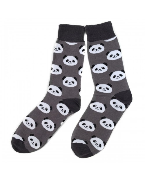 CUTE PANDA FACE ALL OVER STYLE PAIR OF NOVELTY SOCKS