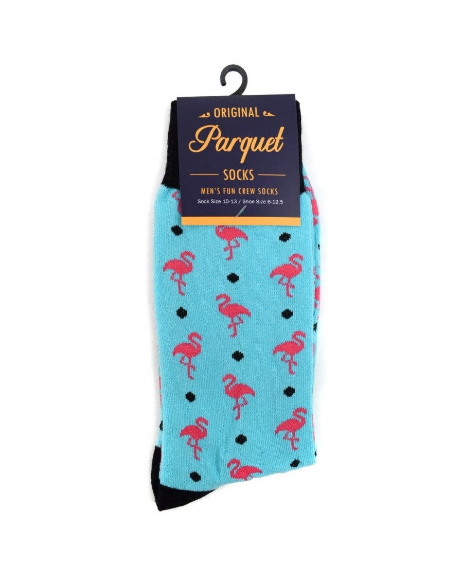 FLAMINGOS ALL OVER STYLE PAIR OF NOVELTY SOCKS