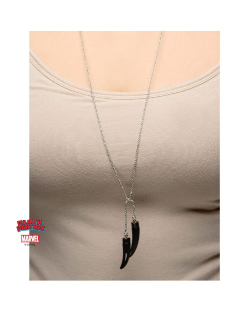 MARVEL COMICS: BLACK PANTHER PANTHER CLAW PENDANTS ON CHAIN NECKLACE