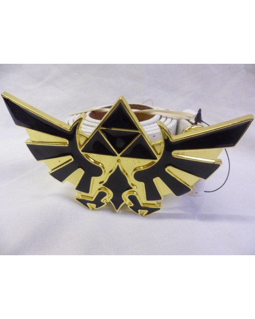GOLD AND BLACK ZELDA HYLIAN CREST BUCKLE with BELT