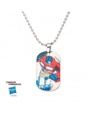 TRANSFORMERS - OPTIMUS PRIME DOG TAG PENDANT WITH CHAIN NECKLACE