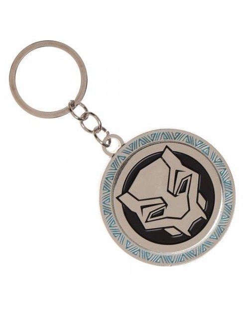MARVEL COMICS - BLACK PANTHER FACE METAL KEYRING