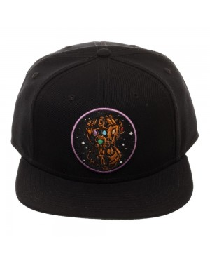 AVENGERS: INFINITY WAR - INFINITY GAUNTLET SPACE EMBROIDERY BLACK SNAPBACK CAP