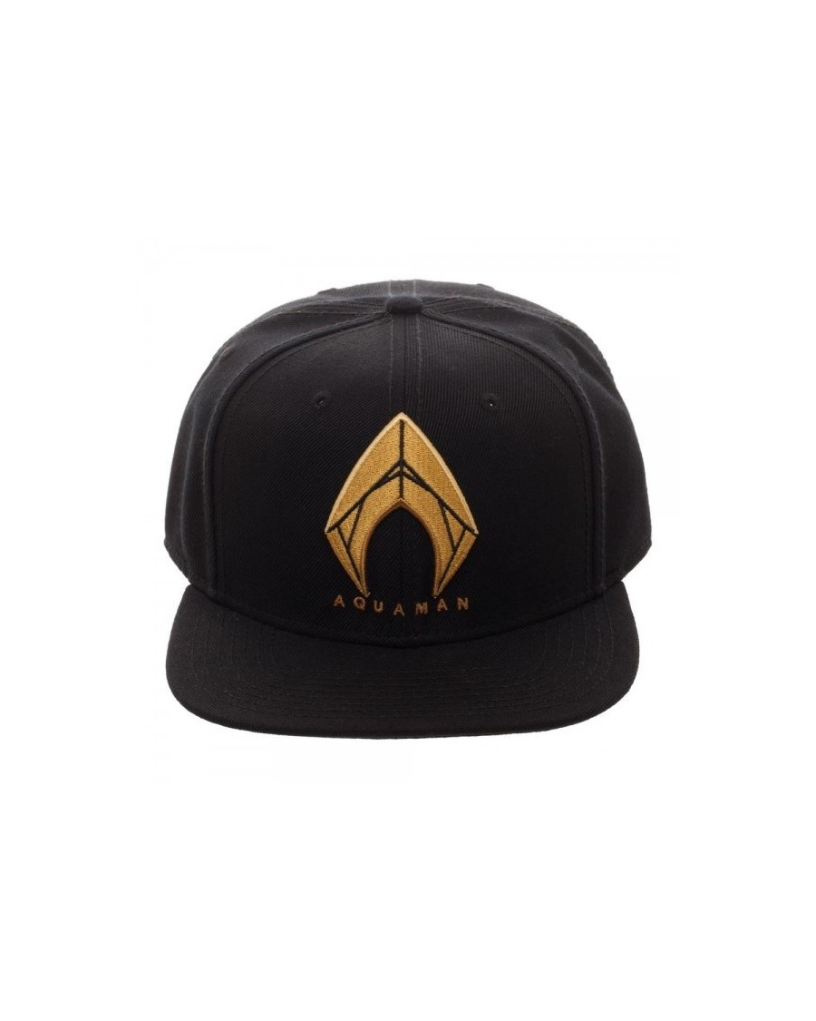 DC COMICS - JUSTICE LEAGUE AQUAMAN SYMBOL BLACK SNAPBACK CAP
