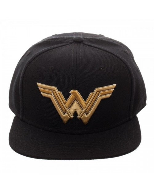 DC COMICS - JUSTICE LEAGUE WONDER WOMAN SYMBOL BLACK SNAPBACK CAP