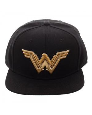 DC COMICS - JUSTICE LEAGUE WONDER WOMAN SYMBOL BLACK SNAPBACK CAP
