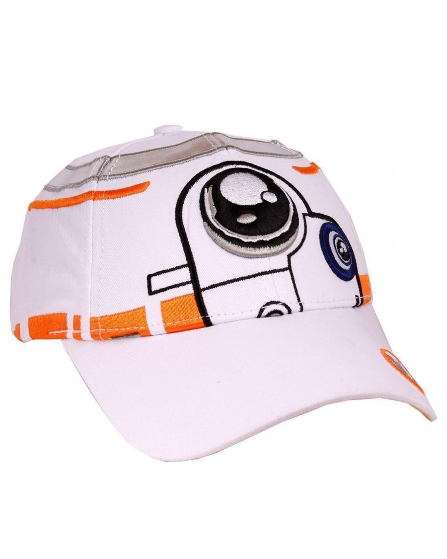 STAR WARS - BB-8 COSTUME STYLED WHITE PU STRAPBACK BASEBALL CAP