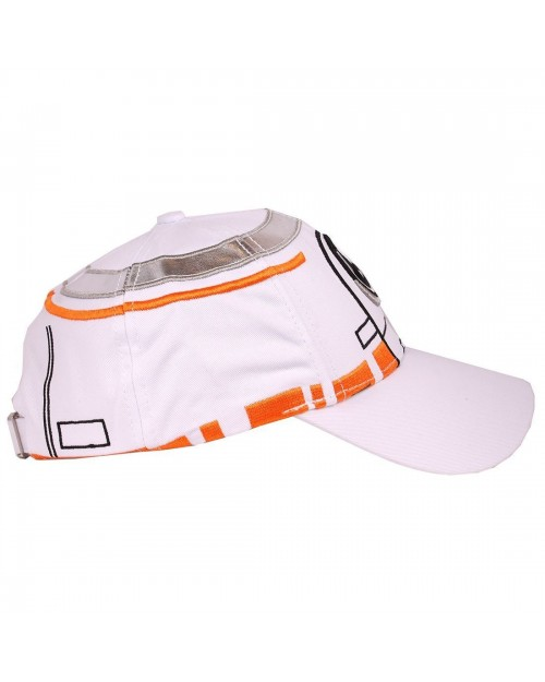 STAR WARS - BB-8 COSTUME STYLED WHITE PU STRAPBACK BASEBALL CAP