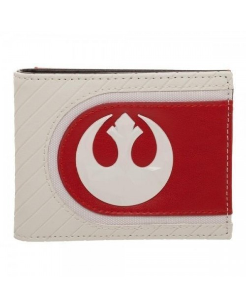 STAR WARS: THE LAST JEDI REBEL SYMBOL WHITE AND RED WALLET