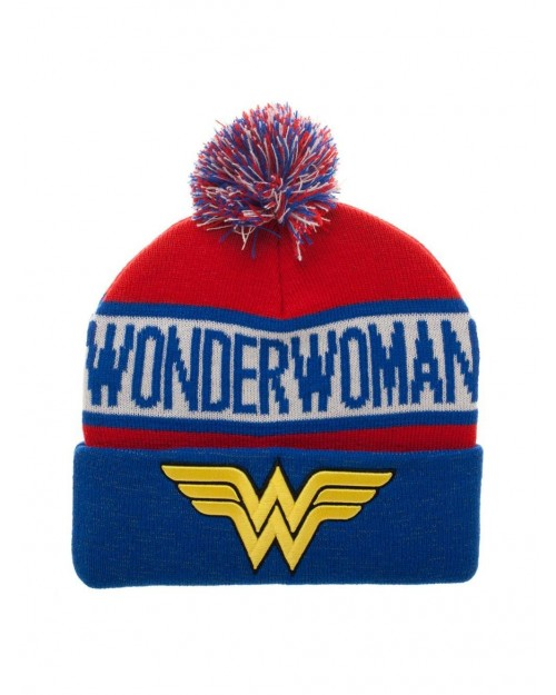 OFFICIAL DC COMICS - WONDER WOMAN SYMBOL COLLAGE CUFF BEANIE