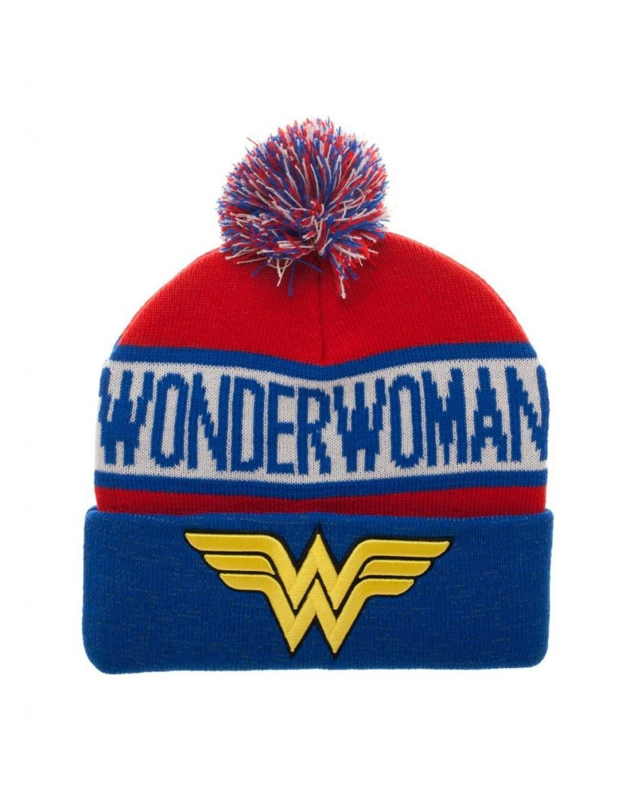 OFFICIAL DC COMICS - WONDER WOMAN SYMBOL COLLAGE CUFF BEANIE