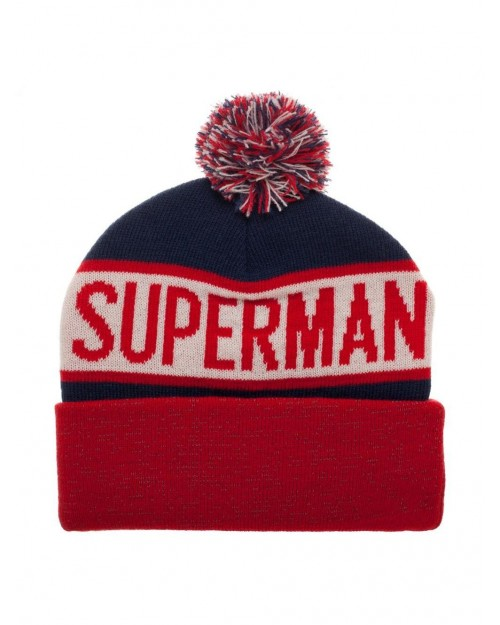 OFFICIAL DC COMICS - SUPERMAN SYMBOL COLLAGE CUFF BEANIE