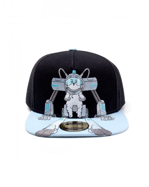 RICK AND MORTY - SNUFFLES (SNOWBALL) EMBOIRDERED FRONT SNAPBACK CAP