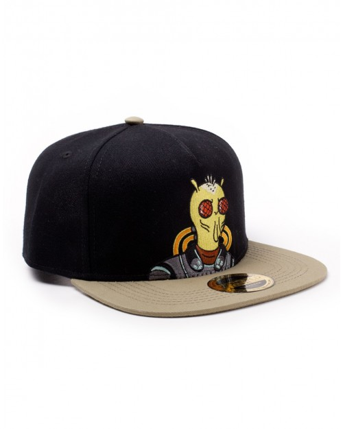 RICK AND MORTY - KROMBOPULOS MICHAEL EMBOIRDERED FRONT SNAPBACK CAP