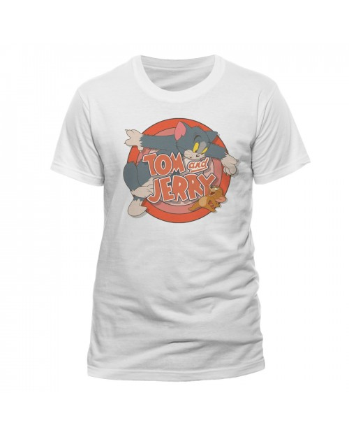 TOM AND JERRY - LOGO WHITE T-SHIRT